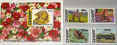 LESOTHO 1986 608-11 Block 37 549-553 20th Ann Independence local People MNH