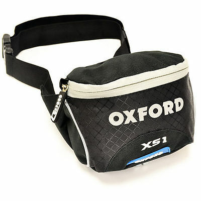 Oxford Xs1 Reflective Motorcycle Luggage Waist Pack / Bum Bag Carrier Luggage