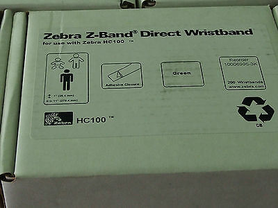 NEW ZEBRA  Z-BAND DIRECT WRISTBANDS - 1 x cartridge
