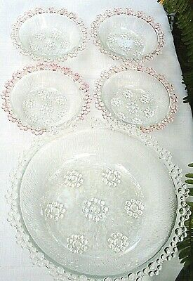 RARE Vintage ADERIA Japan ISHIZUKA BUBBLE LACE BOWLS SET Collectable VG - In Aus