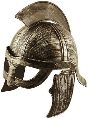 Warrior Roman Sparton Barbarian Viking Gladiator Helmet Fancy Dress One Size