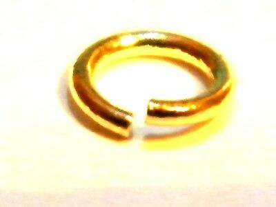 9ct Yellow Gold  6mm Jump Ring Open Ex.Heavy 1.2mm-wire No Soldering Required!