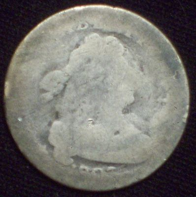 1807 DRAPED BUST Dime SILVER Old Authentic US Coin JR-1 *PRICED TO SELL - RARE*