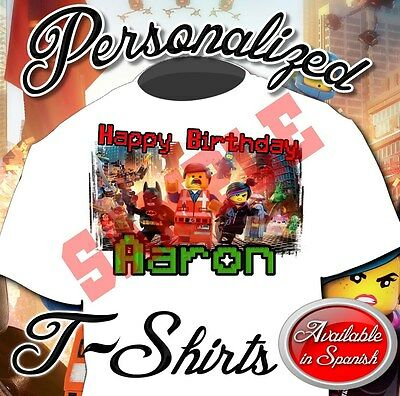 New Custom Personalized The Birthday The Lego Movie Shirt Party Favor Add Name