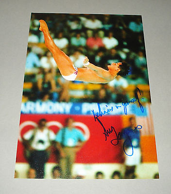Greg Louganis SIGNED 12x8 Photo Genuine Authentic AUTOGRAPH Olympic Diver + COA