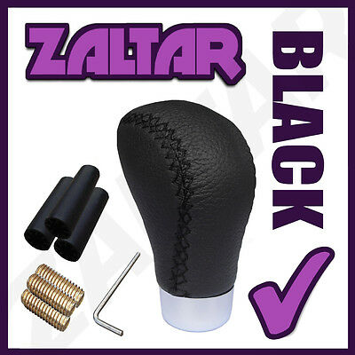 Black Leather Gear Shift Knob Stick Manual Shifter Selector Lever Change Vehicle