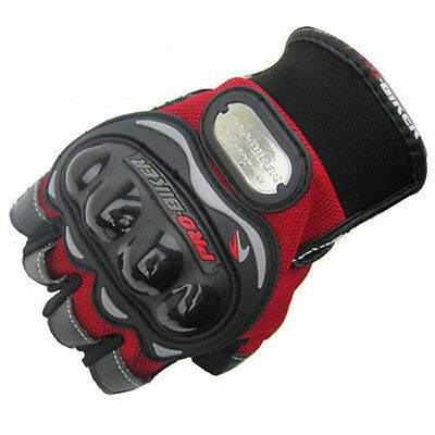 New Motorcycle Cycling Bicycle Bike Riding Gel Half Finger Gloves Red M/L/XL