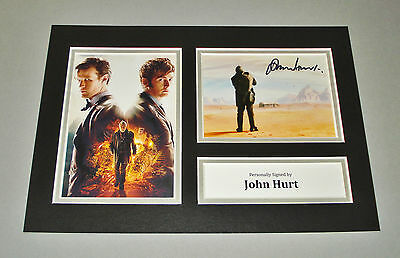 John Hurt SIGNED A4 Photo Display Genuine The War Doctor Dr Who AUTOGRAPH + COA