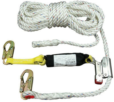 """Elk River 49902 CP+ Lifeline, 5/8"""" x 50', attached rope grab, 2' web ZORBER"""