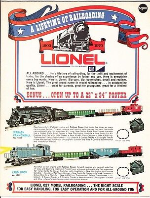 """[43846] 1970 Lionel """"lifetime Of Railroading"""" Catalog & Fold-Out Poster"""