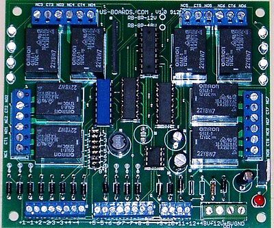 24 Volt relay board; eight relays.