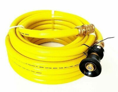 FIRE REEL HOSE BRASS FITTED WATER HOSE 18mm 3/4 x 36m NOZZLE YELLOW ESDAN SAFETY