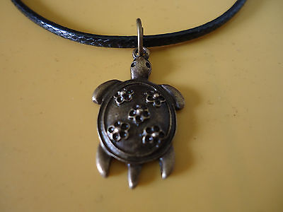 Chinese Turtle Pendant with Necklace Prosperity Abundance Strength (LB-144910)