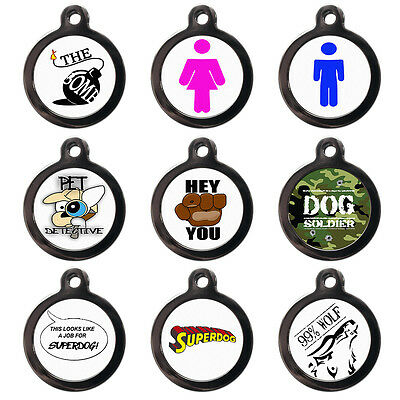 Cute Fun Pet Dog Cat Name ID Tag For Collar Pet Tags - Engraved FREE