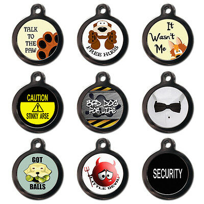 Cool Custom Personalised Pet Dog Cat Name ID Tag Pet Tags - Engraved FREE