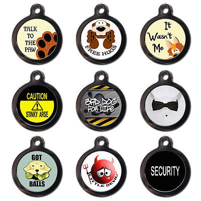 Personalised Pet ID Tags - Dog ID Tags -Dog Name Tag -Pet Tags UK-Cute and Funny