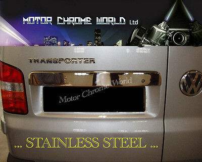 Vw T5 T6 Transporter Chrome Tailgate Grab Handle Trim Cover Twin Barn Rear Doors