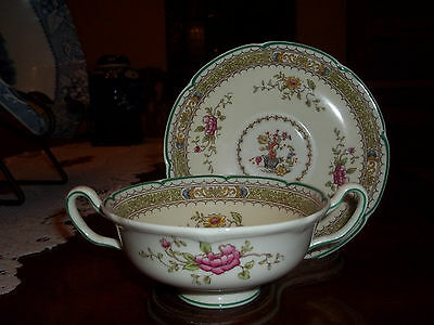 Royal Doulton LILLIAN ( scaloped rim ) Cream Soup and Saucer ( 3 avail )