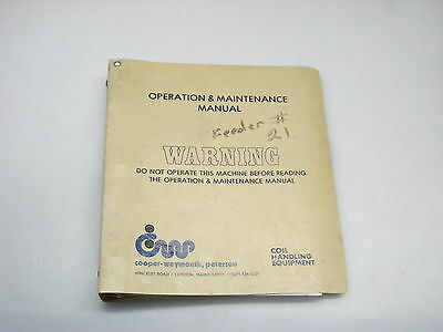 Cooper-Weymouth, Peterson Operation & Maintenance Manual For Model XHF-1212-RH