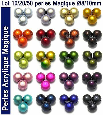 PROMO PERLES/Beads Acrylique Magique Miracle pour Creation Bracelet Shamballa