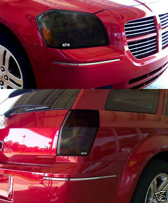 05-07 Dodge Magnum Smoke GTS Acrylic Protection Headlight Taillight Covers 4pc