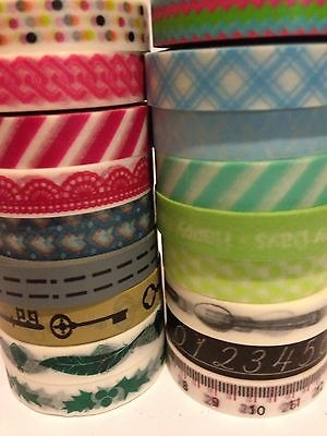Washi Tape Thin Designs You Choose 10Mm Wide X 10 Mtr Roll Scrap Craft Planner
