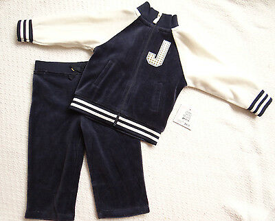 12f8b06846c2 Juicy Couture Baby Girl Velour Track Jog Suit Varsity Bling 2 Piece Set 6  12 Mos