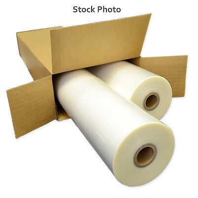 """25"""" Wide 3 Mil Thermal Roll Lamination Film (2 Rolls) Glossy Clear"""