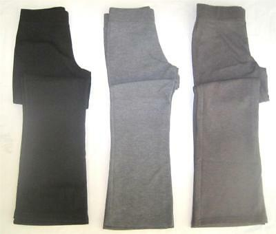 New girls ex high st jersey school trousers black grey age 4 6 8 10 11-12 13-14
