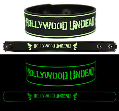 HOLLYWOOD UNDEAD Rubber Bracelet Wristband Glows in the Dark