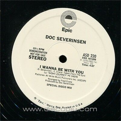 "DOC SEVERINSEN i wanna be with you MINT 12"" mix vinile USA vinyl unplayed"