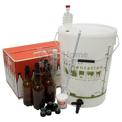New Starter Home Brew Kit with Bottles for Beer making Homebrewing