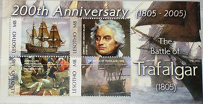 LESOTHO 2005 Klb 1951-54 1381 Bicent. Sea Battle of Trafalgar Seeschlacht Ships