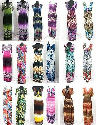 18 long dresses wholesale summer sundress beach hippie casual -ship to US/Canada