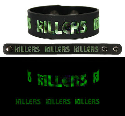 THE KILLERS Rubber Bracelet Wristband Glows in the Dark