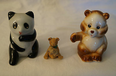 Collectable - Cute Animal Figurines x 3 - Bears.