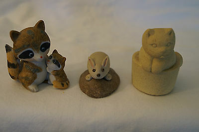 Collectable - Cute Animal Figurines - 3 x Various.