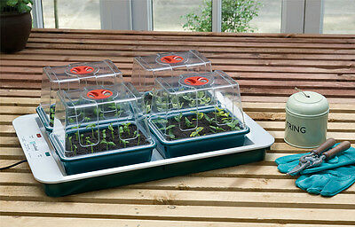 Garland Four 4 Top Electric Seed Propagator - with Temperature Control 50W