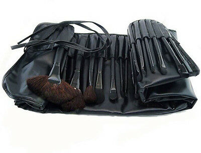 Newest 32PCS Professional Eyebrow Shadow Brush Power Brush with Leather bag