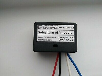 TIMER SWITCH TIME RELAY 1 TO 60 SEC KIT 12V / 10A Delay ON CAR DAYLIGHTS BOX