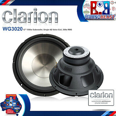 "New Clarion Wg3020 12"" 1000W Single 4 Ohm Car Audio Subwoofer Sub Woofer"