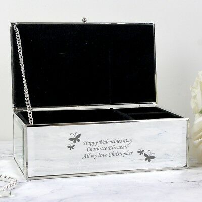Personalised Engraved Mirrored Jewellery Boxes - Birthday Present Christmas Gift