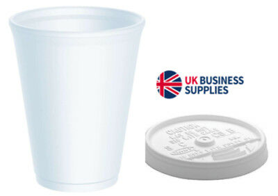 10oz Insulated Polystyrene Foam Poly Cups 2 x 1000 (2000 Cups) - UKB410
