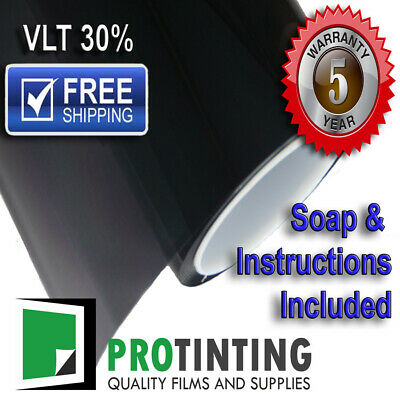 Window Tint Film Black 1525mm X 30m Roll 152cm X 30m 30% VLT Car House