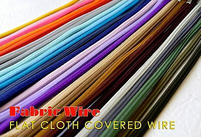 10 Ft. Flat Cloth Covered Wire, Vintage Style Lamp Cord