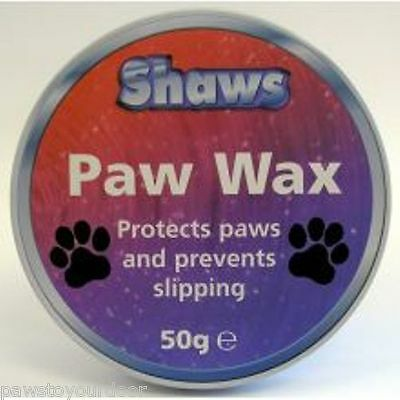 Shaws paw wax for dogs protects paws and prevents slipping 50g