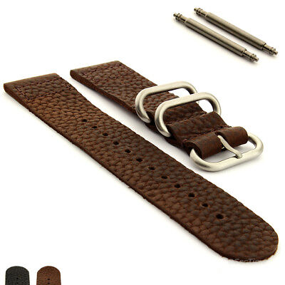 Two-piece Genuine Leather Vintage Nato Watch Strap Band 18mm 20mm 22mm 24mm 26mm