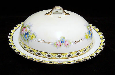 VINTAGE NIPPON VENTED COVERED CHEESE BUTTER PLATE DISH BEAUTIFUL!!