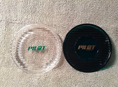 Set Of 2 Pilot Air Freight Drink Coasters Green And Clear