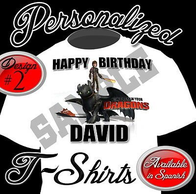 New Custom Personalized How To Train Your  Dragon   Birthday Tshirt Party